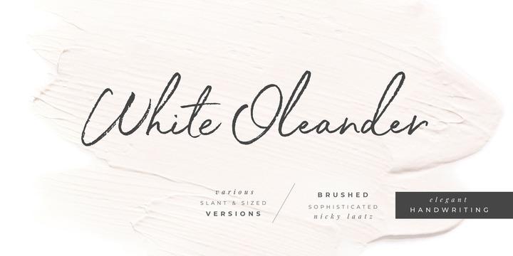White Oleander | Webfont & Desktop font | MyFonts