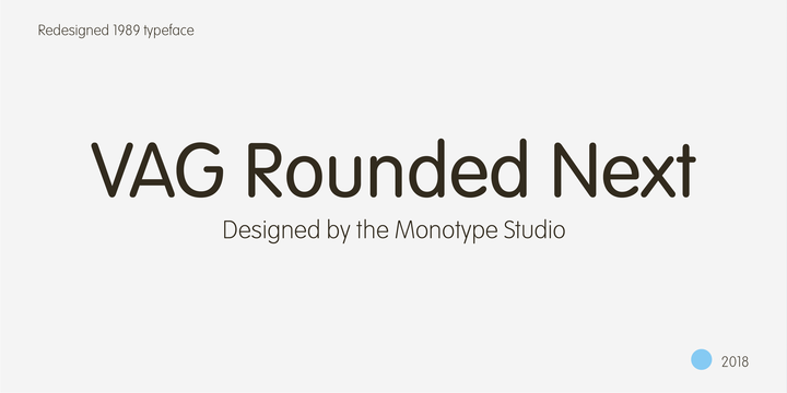 VAG Rounded Next Font Poster 1