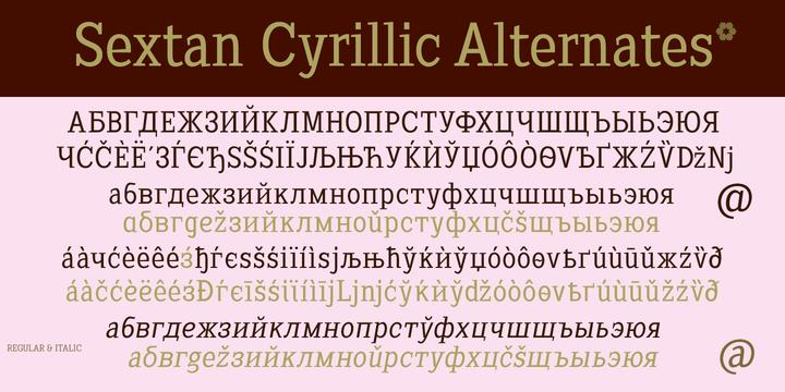 Download Sextan Cyrillic Fonts by deFharo