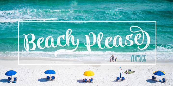 Beach Please Vintage Webfont Desktop Font Myfonts