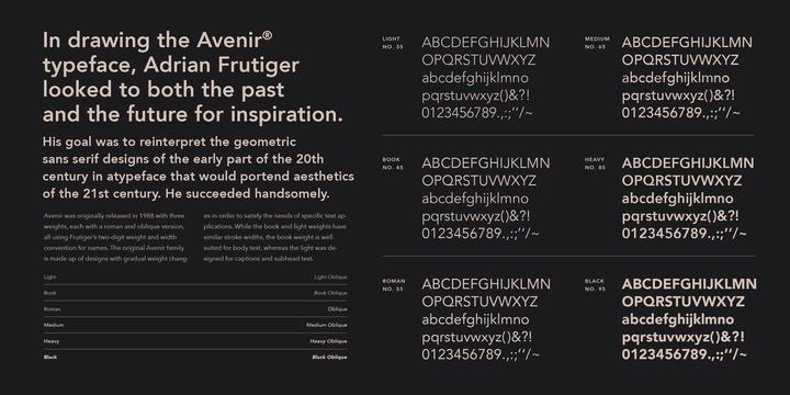 Avenir | Webfont & Desktop font | MyFonts