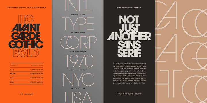 Avant Garde Book Oblique Font