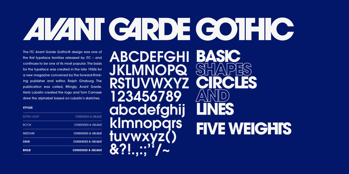 ITC Avant Garde Gothic   Desktop font   MyFonts