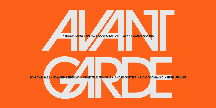 ITC Avant Garde Gothic Font Poster 1