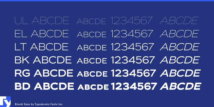 Biondi Sans   Desktop font   MyFonts