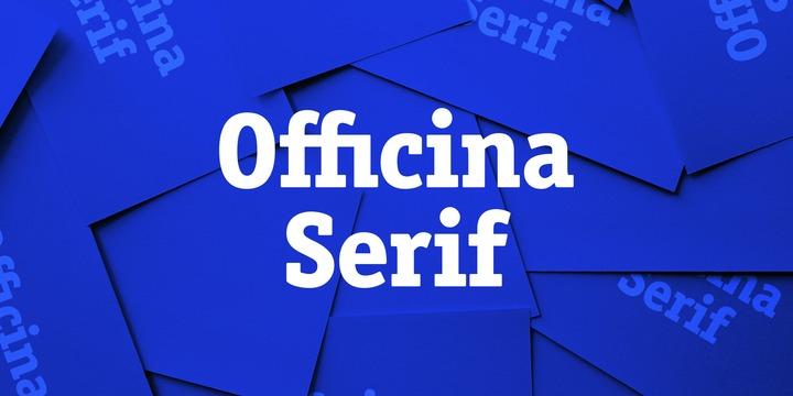 Officina Sans Book Italic Font