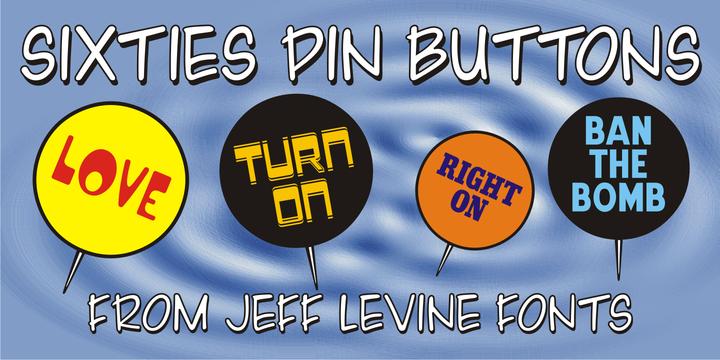 Sixties Pin Buttons JNL
