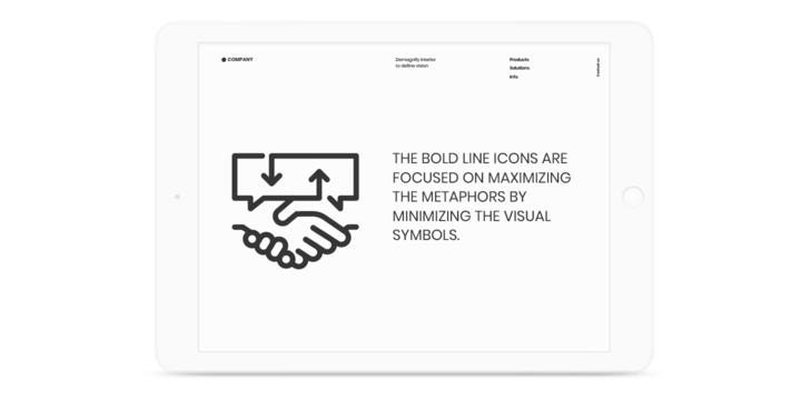 Bold Line Icons | Webfont & Desktop font | MyFonts