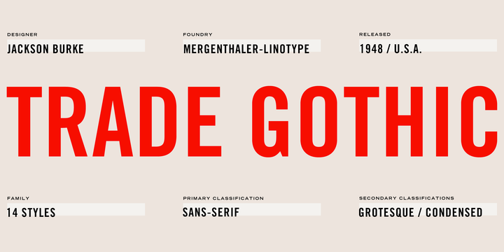 Trade Gothic | Webfont & Desktop font | MyFonts