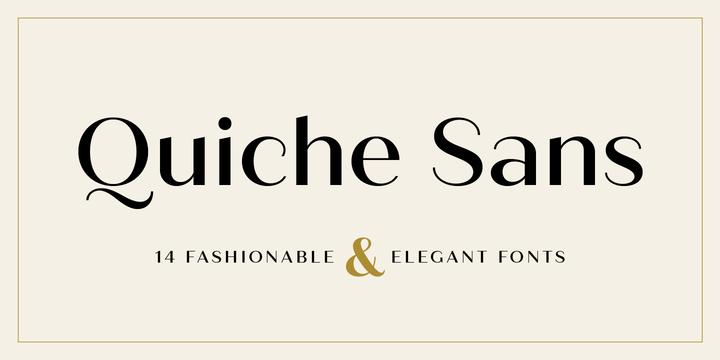 Quiche Sans | Webfont & Desktop font | MyFonts