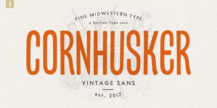Cornhusker Font Webfont Desktop Myfonts