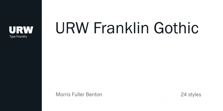 Franklin Gothic Book Font