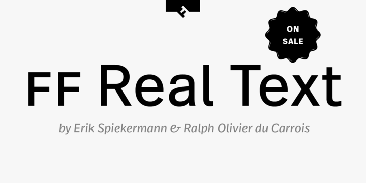 Download FF Real™ Text Font Family From FontFont