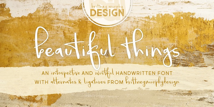 Download Beautiful Things Font Family From Brittney Murphy Design