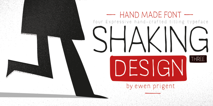 Download Shaking Font Family From La Boîte Graphique