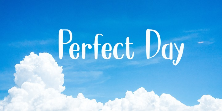 Download Perfect Day Font Family From Hanoded