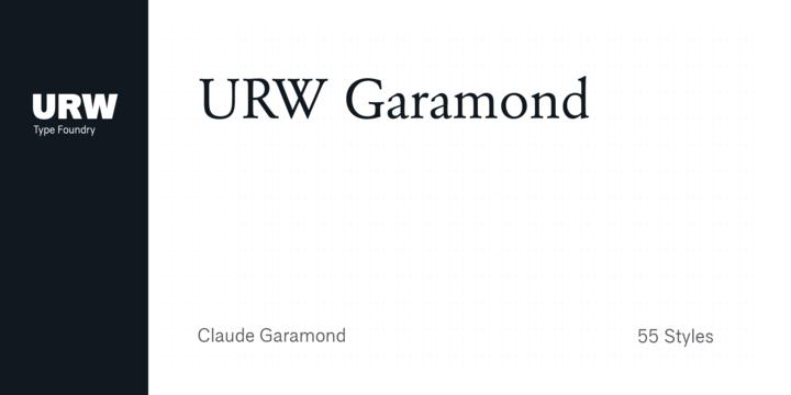 URW Garamond   Webfont & Desktop font   MyFonts