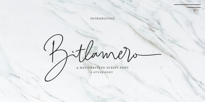 Bitlamero Script | Webfont & Desktop font | MyFonts