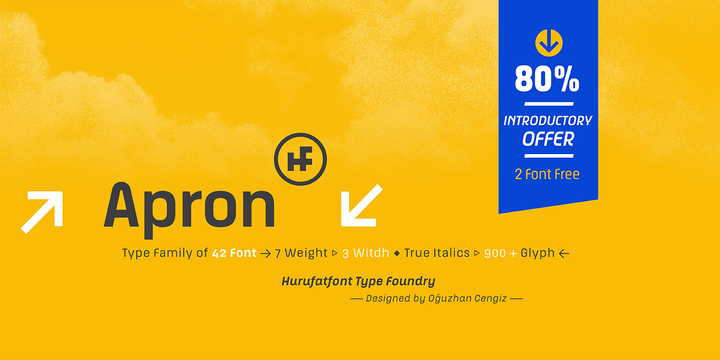 Download Apron Font Family From Hurufatfont Type Foundry
