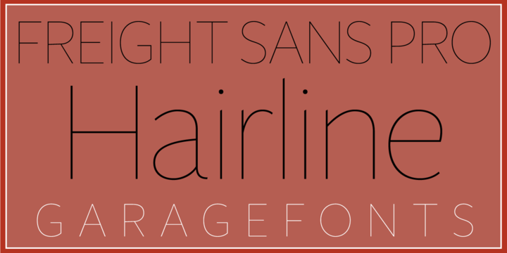 Download Freight Sans HPro Hairlines Font Family From