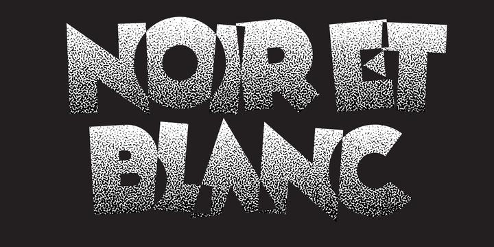 Download Noir et Blanc Font Family From Pelavin Fonts