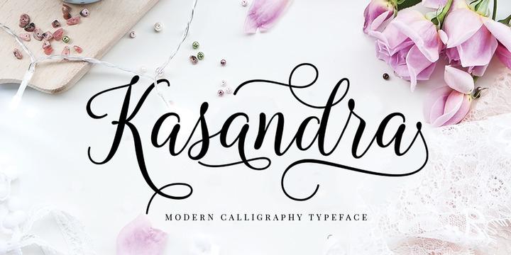 Download Kasandra Script Font Family From Great Studio