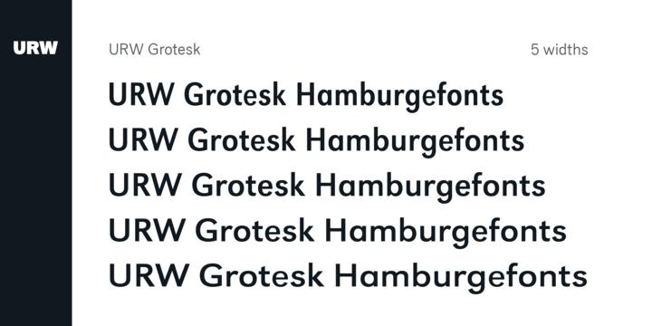 URW Grotesk | Webfont & Desktop font | MyFonts