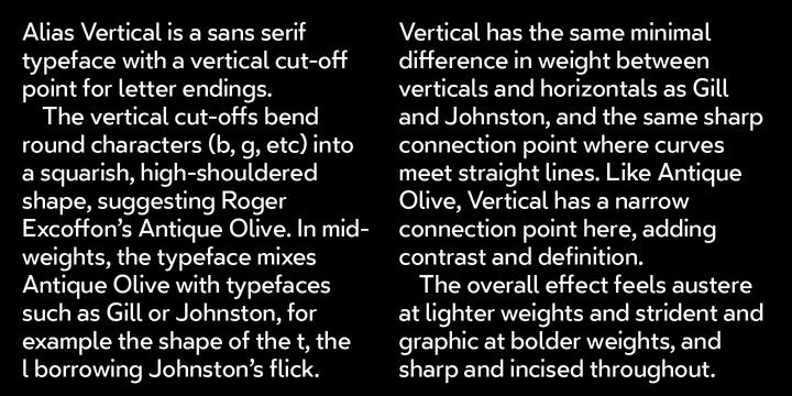 Vertical | Webfont & Desktop font | MyFonts