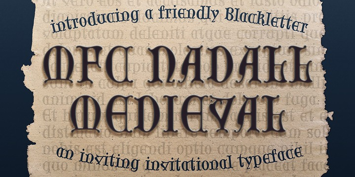 Download MFC Nadall Medieval Font Family From Monogram Fonts Co