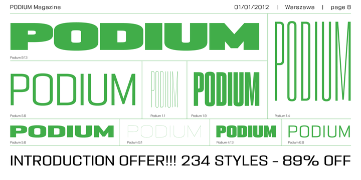 Download PODIUM Sharp Font Family From BORUTTA GROUP