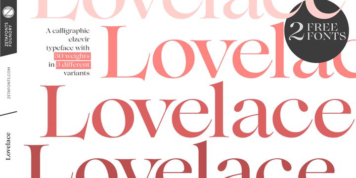 Download Lovelace Font Family From Zetafonts ~ Alevtina