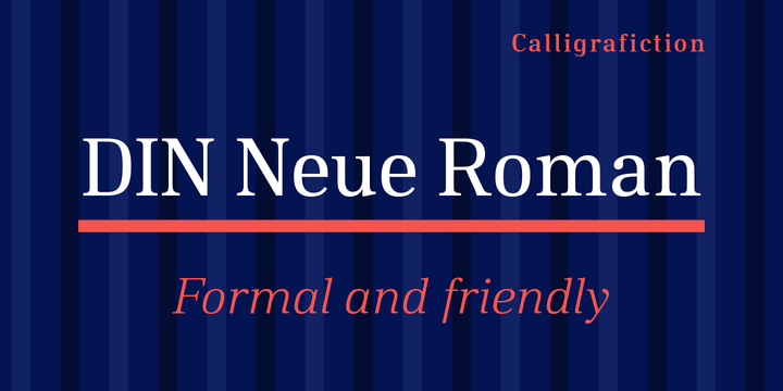 DIN Neue Roman | Webfont & Desktop font | MyFonts