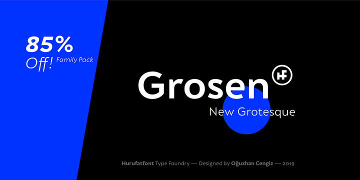Download Grosen Font Family From Hurufatfont Type Foundry