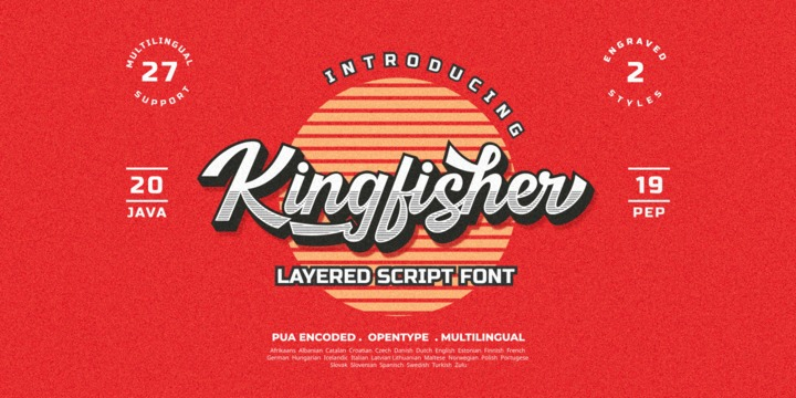 Download Kingfisher Font Family From Java Pep