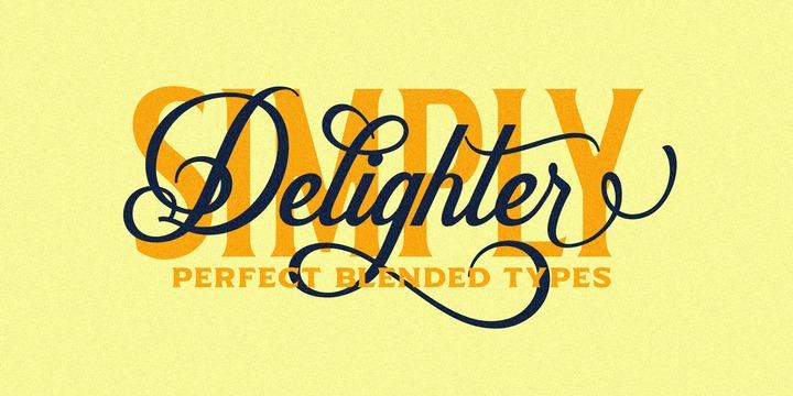 Delighter Script | Webfont & Desktop font | MyFonts