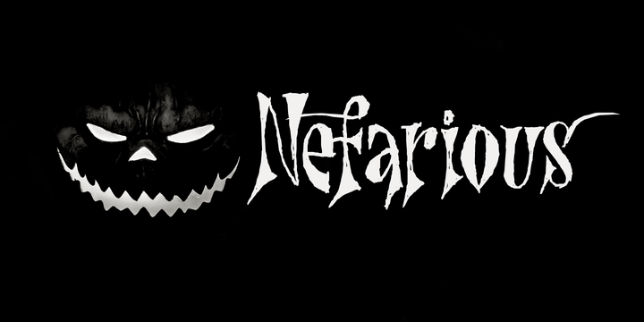 Download Nefarious Font Family From Hanoded