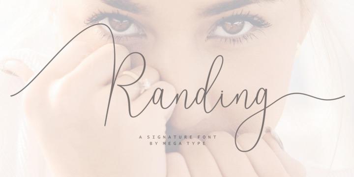 Download Randing Font Family From Mega Type - Yvette Davydova