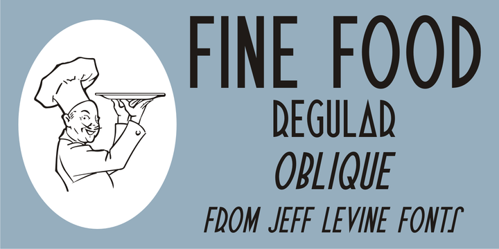 Download Fine Food Font Family From Jeff Levine - Jasmine