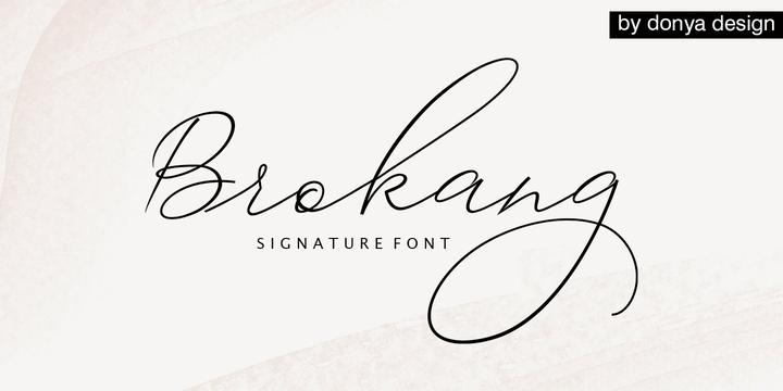 Download Brokang Font Family From DonyaDesign