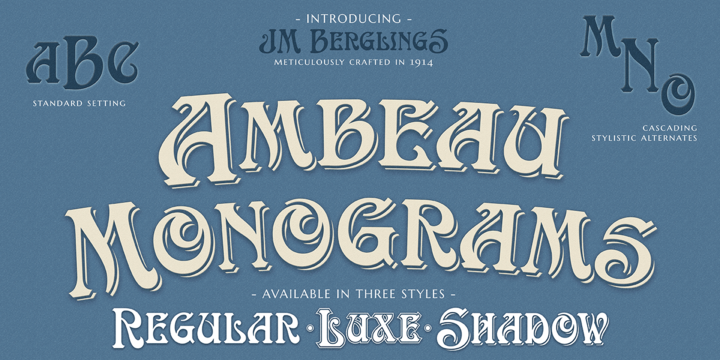 Download MFC Ambeau Monogram Font Family From Monogram Fonts