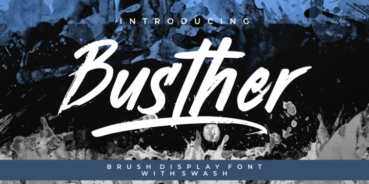 Download Busther Font Family From Putracetol ~ Dominica