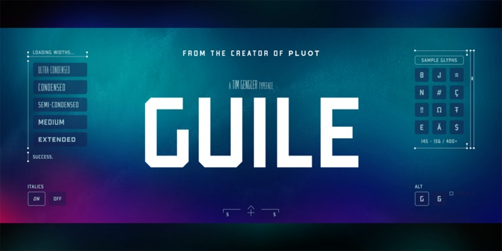 Download Guile Font Family From Bunny Dojo