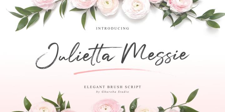 Download Julietta Messie Font Family From Ghuroba Studio