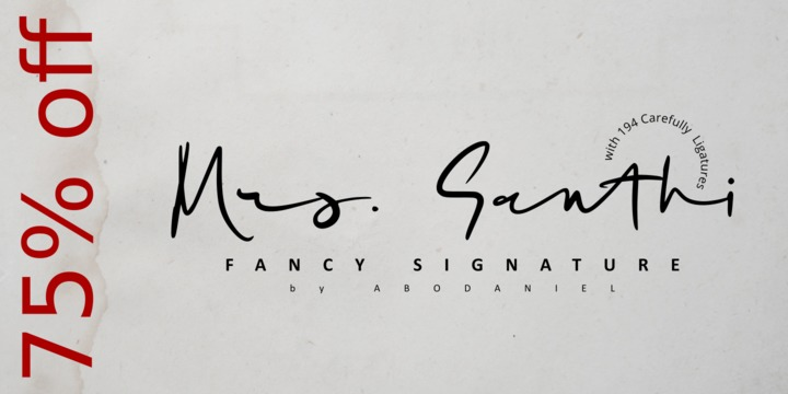 Download Mrs  Santhi Font Family From Abo Daniel