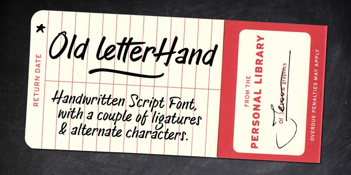 Download Old Letterhand Font Family From JOEBOB graphics