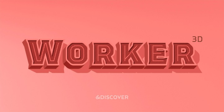 Download Worker 3D Font Family From Ndiscover