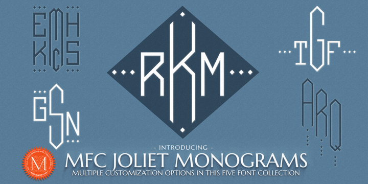 Download MFC Joliet Monogram Font Family From Monogram Fonts Co