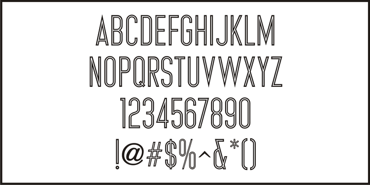 Download Inline Retro JNL Font Family From Jeff Levine