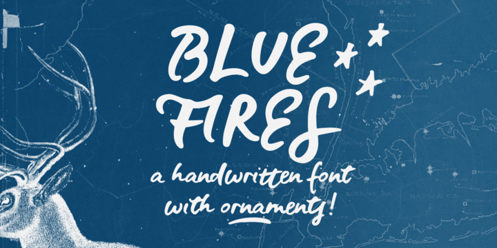 Download Blue Fires Font Family From Ana's Fonts