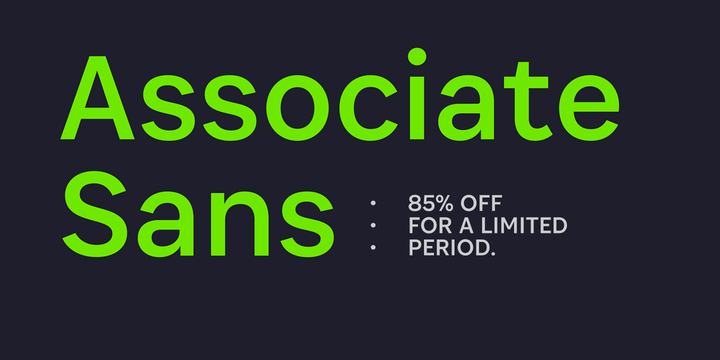 Download Associate Sans Font Family From Indian Type Foundry